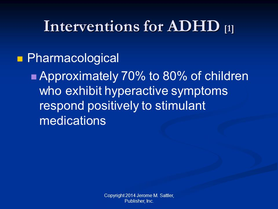 Interventions for ADHD [1]